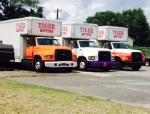 Trucks in lot circa July 2014.
