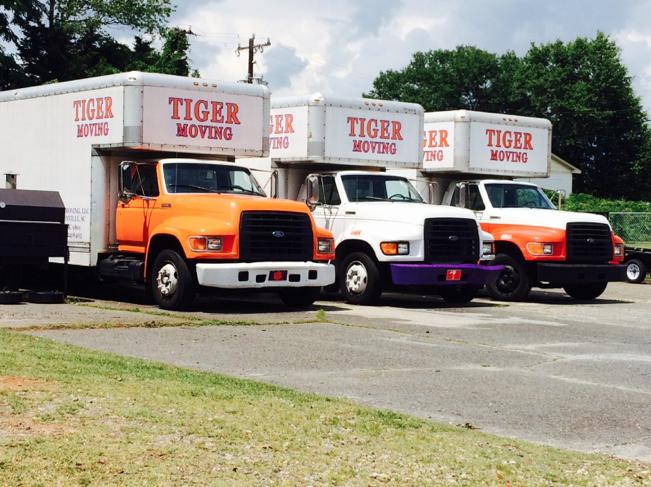Trucks in lot circa July 2014.