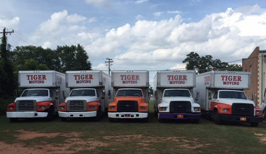 Trucks in yard circa June 2015