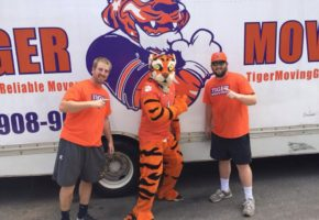 Josh and Avery ran into The Tiger while doing a move on Clemson